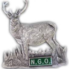 Pewter coloured stag badge - OUT OF STOCK