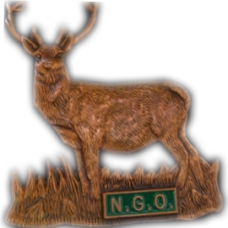 Bronze coloured stag badge