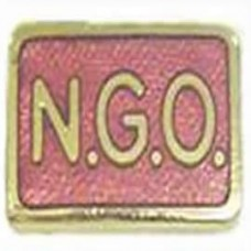 Red NGO Lapel Badge